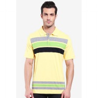 Country Fiesta Mens Polo Check Yellow-AHRMCOFL0285