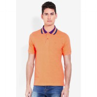 Country Fiesta MenS Polo Orange-AHRMCOFL0167
