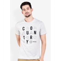 Country Fiesta Mens Tshirt Fashion Grey-AHRMCOFL0339