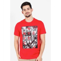 Country Fiesta Mens Tshirt Fashion Red-AHRMCOFL0359
