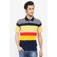 Country Fiesta MenS Polo Navy-AHRMCOFL0157