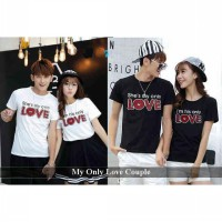Kaos Couple Bagus | Fashion Couple Terkini | My Only Love Hitam dan Putih