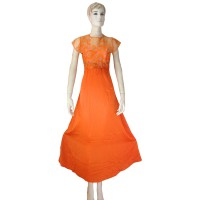 solo my kebaya dress gamis alexa - GK01 - orange