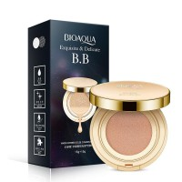 [15gr+15gr] Bioaqua Exquisite and Delicate Cream Air BB Cushion Gold Case SPF 50++ PLUS Refill 15gr