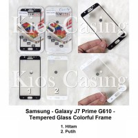 Samsung Galaxy J7 Prime G610 - Tempered Glass Colorful Frame (Anti Gores Kaca Screen Guard)