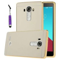 Aluminium Bumper with Mirror Back Cover for LG G4 - Golden