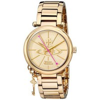 [poledit] Vivienne Westwood Women`s VV006KGD Kensington II Analog Display Swiss Quartz Gol/7402484