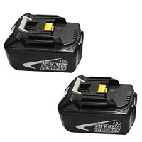 [poledit] GERIT BATT GERIT-- 2 Packs Makita 18V 4.0Ah Lithium-ion Replacement Battery for /13638474