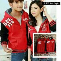 Jaket Couple Love 520 Merah