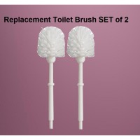 IKEA (R) - LOSSNEN Replacement Toilet Brush SET of 2 White Only (36cm) Sikat WC isi 2