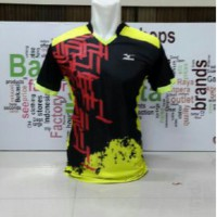 Kaos volly Mizuno hitam