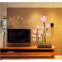 Wall sticker vintage Pink Flower
