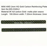[globalbuy] RC MINI 4WD 2mm HG Gold Carbon Reinforcing Plate /Self-made Parts Tamiya MINI /3046339
