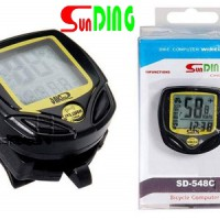 Speedometer Sepeda Sunding SD-548C Wireless Bicycle Stopwatch Bike Cyclometers