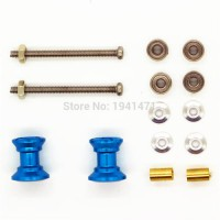 [globalbuy] MINI 4WD Double Aluminum Rollers(9-8mm) Self-made Parts Tamiya MINI 4WD Colore/3046713