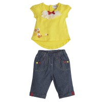 Torio Spring Blossom Casual Denim Set