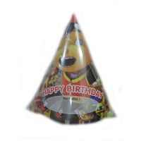 Topi Kerucut Motif Boboboy Happy birthday