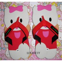 SANDAL LUCU HELLO KITTY SANCU HELLO KITTY MERAH SIZE 36, 38, 40, 42
