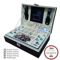 Exclusive Black Cream Jewelry Box | Kotak Tempat Perhiasan Dan Accesories