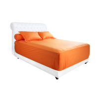 Bloomingdale Sprei Polos Cotton King Fitted - Orange