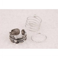 Ring Leaf Shape Jewelry - Silver