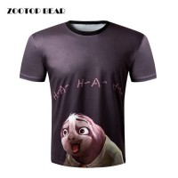 [globalbuy] ZOOTOP BEAR New 2016 Brand clothing Men T-shirt sloth 3D Print Cute Funny Top /4106931