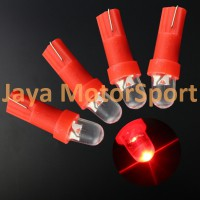 Lampu LED Mobil / Motor / Speedometer / Dashboard T5 1 SMD Convex - Red