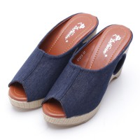 Dr.Kevin Canvas Sandals 27273 Blue