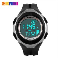 SKMEI Pioneer Sport Watch Water Resistant 50m - DG1080 - Black White