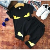 Stelan / set / setelan fendi yellow eyes for kids original import