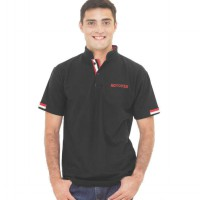 Spiccato SP 114.02 Polo Shirt Kasual Pria - Bahan Lacoste - Keren - Hitam