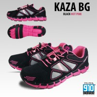 910 Sepatu Lari KAZA BG KID (BLACK / HOT PINK / WHITE )