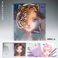 TOP Model TM8050 Create Your Fantasy Face Colouring Book