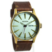 Nixon Jam Tangan Pria A1052223 Brown Ring Gold