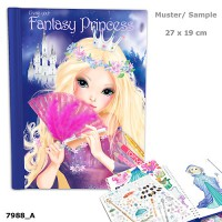 TOP Model TM7988 Create your Fantasy PrincessColouring Book
