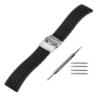 [globalbuy] 22mm Silicone Rubber Band for Moto 360 2 46mm Samsung Gear 2 R380 R381 R382 Pe/3202204