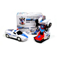 MAINAN MOBIL ROBOT TRANSFORMER POLICE CAR 2 IN 1
