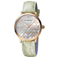 Guy laroche - L5014-04 jam tangan wanita - leather strap - hijau