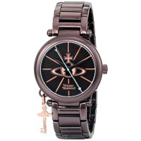 [poledit] Vivienne Westwood Women`s VV006KBR Kensington II Analog Display Swiss Quartz Bro/7401440