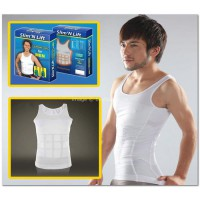 slim n lift for men putih khusus XL / slimming shirt / tanktop cowok slimming