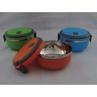 TEMPAT MAKAN STAINLESS LUNCH BOX ROUND 1 LAYER