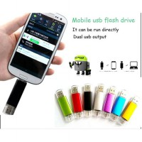 USB Flash Drive + OTG 16 GB | Stainless Material | SAMSUNG O E M Flashdisk 2 in 1