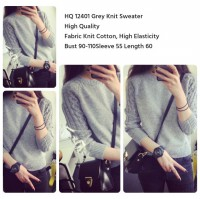 Grey Knit Sweater -12401