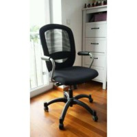 IKEA (R) - Swivel chair with armrests, black Flintan for Office or Kerja (Max Load 110kg)