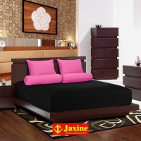 Jaxine Sprei Katun Prada Polos Warna hitam pink Uk. Sprei 100 x 200 x 20cm ( Small Single )