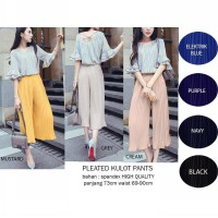 Pleated Kulot Pants