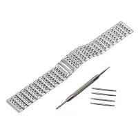 [globalbuy] 20mm Stainless Steel Watch Band for Motorola Moto 360 2 42mm 2015 Samsung Gear/3202520