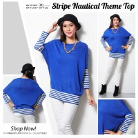 STRIPE NAUTICAL THEME TOP