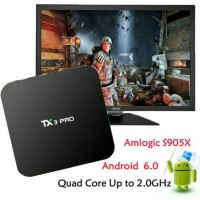 Smart Android TV Box TX3 Pro S905X Marsmallow 6.0 Amlogic 2.0Ghz Media Player support Video 4K H.265