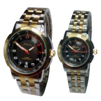 Tetonis - Jam Tangan Couple Serries - T9785M SP - Silver Black Gold